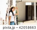 女性 旅行 若いの写真 42058663