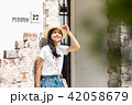 女性 旅行 若いの写真 42058679