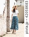 女性 旅行 若いの写真 42058683