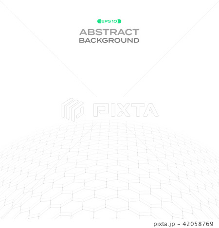 Abstraction of hexagonal pattern in curve shape  42058769