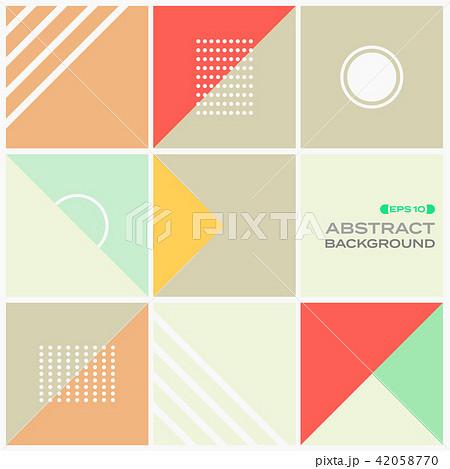 Abstract of colorful stylish geometric pattern  42058770