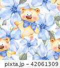 背景 くま クマのイラスト 42061309