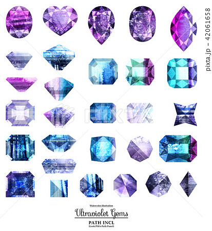 Ultraviolet and blue gems 42061658