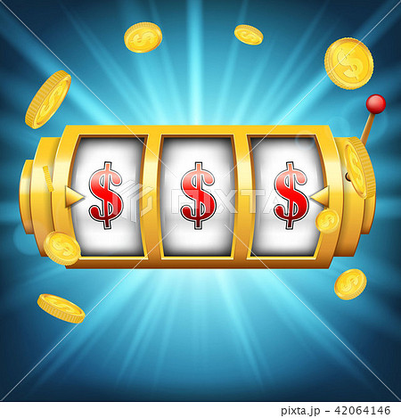 Creative vector illustration of 3d gambling reel, casino slot machine isolated on transparent 42064146