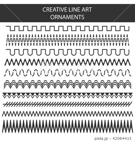 Creative vector illustration of hand drawn line frames set isolated on transparent background 42064415