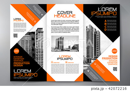 brochure 3 fold flyer design a4 template のイラスト素材 42072216