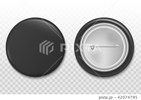 creative vector illustration of 3d pin button isolated on