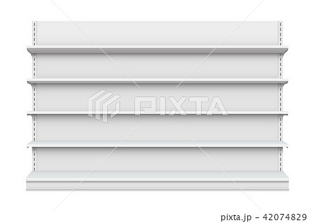 Creative vector illustration of empty store shelves isolated on background. Retail shelf art design 42074829