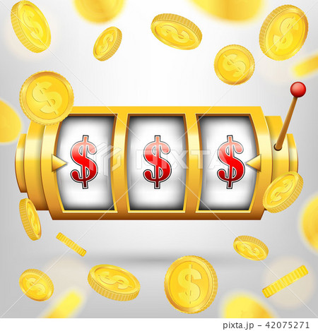Creative vector illustration of 3d gambling reel, casino slot machine isolated on transparent 42075271