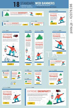 Standard size web banners - snowboarding sport 42076196