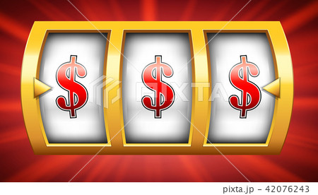 Creative vector illustration of 3d gambling reel, casino slot machine isolated on transparent 42076243