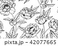 Seamless Peony flower pattern background.  42077665