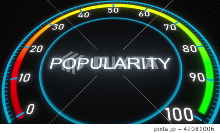 Popularity futuristic meter or indicator. Conceptual 3D rendering 42081006