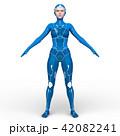 スーパーウーマン 女性 cgのイラスト 42082241