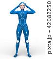 スーパーウーマン 女性 cgのイラスト 42082250