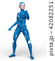 スーパーウーマン 女性 cgのイラスト 42082251