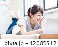 パソコン 女性 人物の写真 42085512