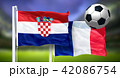Croatia - France, FINAL OF FIFA World Cup, Russia 2018, National Flags 42086754