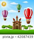 エアバルーン 気球 熱気球のイラスト 42087439