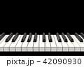 ピアノの鍵盤, 音楽 42090930