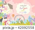 ユニコーン 一角獣 城のイラスト 42092558