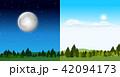 昼 一日 日のイラスト 42094173