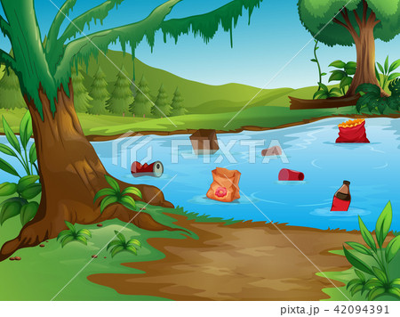 A Water Pollution in Nature Landscape 42094391