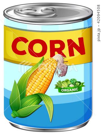 Can of organic corn 42094508