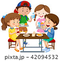 グループ 集団 児童のイラスト 42094532
