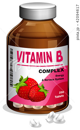 Vitamin B Capsule in Container 42094617
