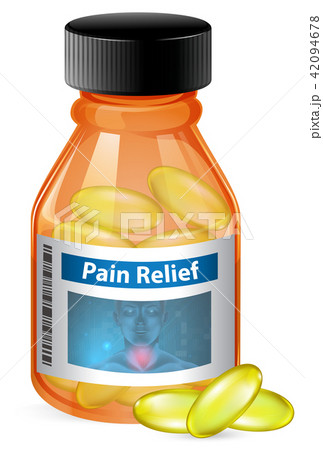 Container of pain relief 42094678