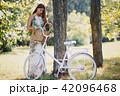 自転車 フラワー 花の写真 42096468
