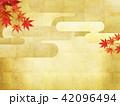 和-背景-秋-紅葉-金 42096494