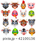 Animal head cartoon collection set 42100136
