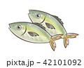 鯵 魚 鮮魚のイラスト 42101092