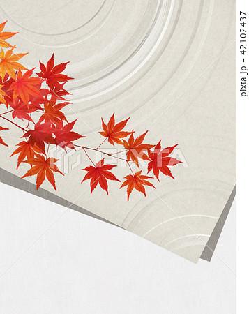 和-和紙-背景-秋-紅葉 42102437