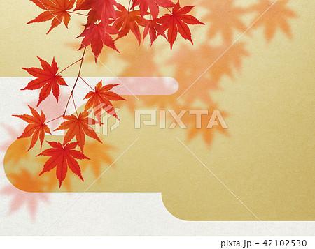 和-背景-秋-紅葉-金 42102530