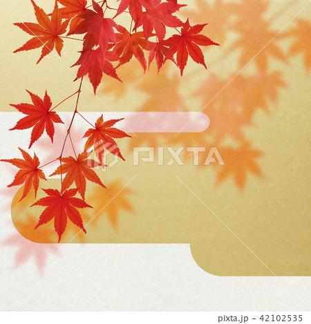 和-背景-秋-紅葉-金 42102535