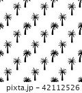 Beautifil Palm Tree Leaf  Silhouette Seamless Pattern Background Vector Illustration 42112526