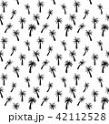Beautifil Palm Tree Leaf  Silhouette Seamless Pattern Background Vector Illustration 42112528