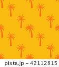 Beautifil Palm Tree Leaf  Silhouette Seamless Pattern Background Vector Illustration 42112815