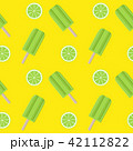 Abstract Summer Seamless Pattern Background with Ice Cream. Vector Illustration 42112822