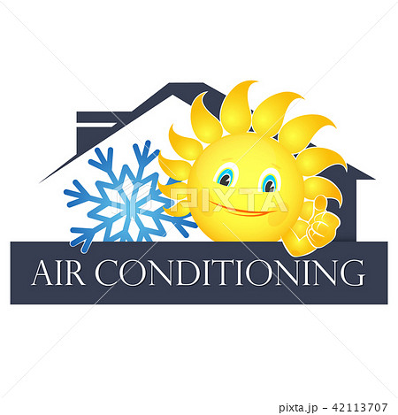 Sun and snowflake air conditioning 42113707