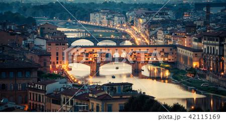 Ponte Vecchio Bridge in Florence - Italy 42115169