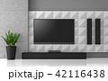 テレビ テレビジョン インテリアのイラスト 42116438