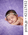 Portrait of sleeping newborn baby 42117452