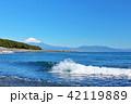 富士山 海 波の写真 42119889