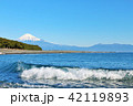 富士山 海 波の写真 42119893