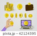 ビットコイン コイン 硬貨のイラスト 42124395