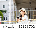 女性 アイスコーヒー 若いの写真 42126702
